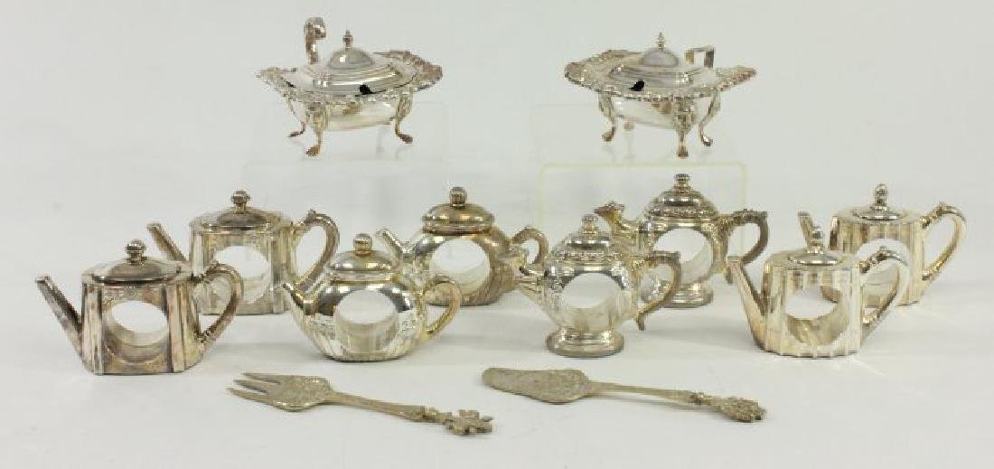 Napkin Rings, Relish Dishes, & Pair Serving Pieces