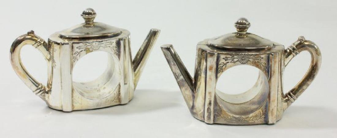 Napkin Rings, Relish Dishes, & Pair Serving Pieces - 2