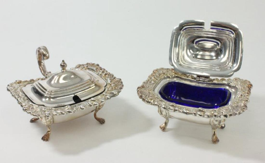 Napkin Rings, Relish Dishes, & Pair Serving Pieces - 3