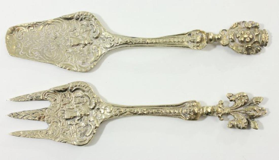 Napkin Rings, Relish Dishes, & Pair Serving Pieces - 4