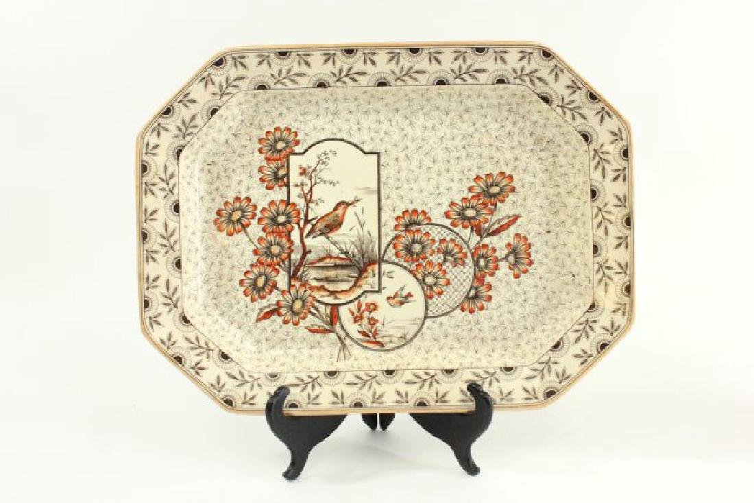 4 English Platters, Including Blue Willow Platter - 2