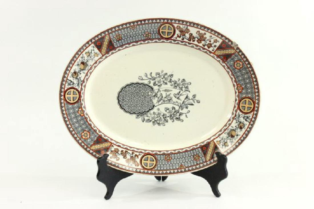 4 English Platters, Including Blue Willow Platter - 6