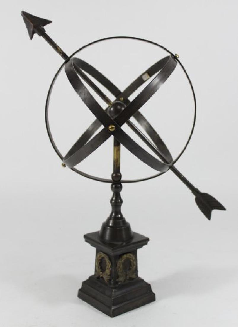 Neoclassic Style Cast Brass Astrolabe