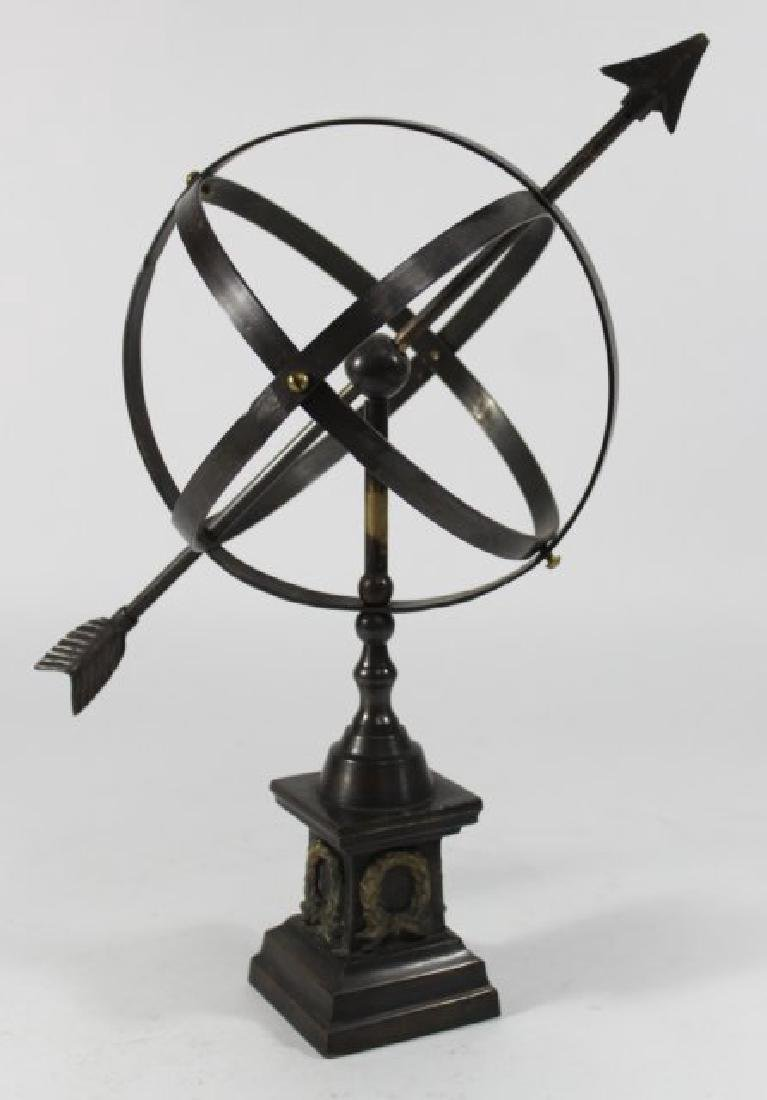 Neoclassic Style Cast Brass Astrolabe - 2