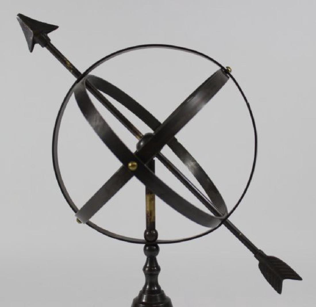 Neoclassic Style Cast Brass Astrolabe - 3