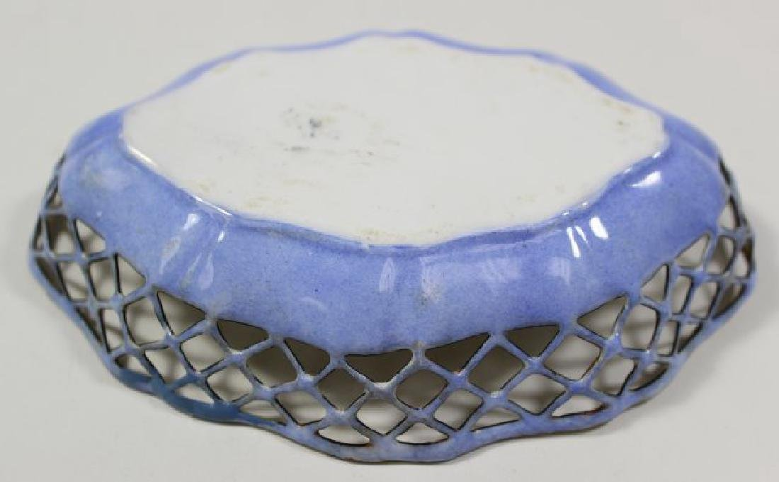 4 Enamel Open Reticulated Small Bowls/Dishes - 3