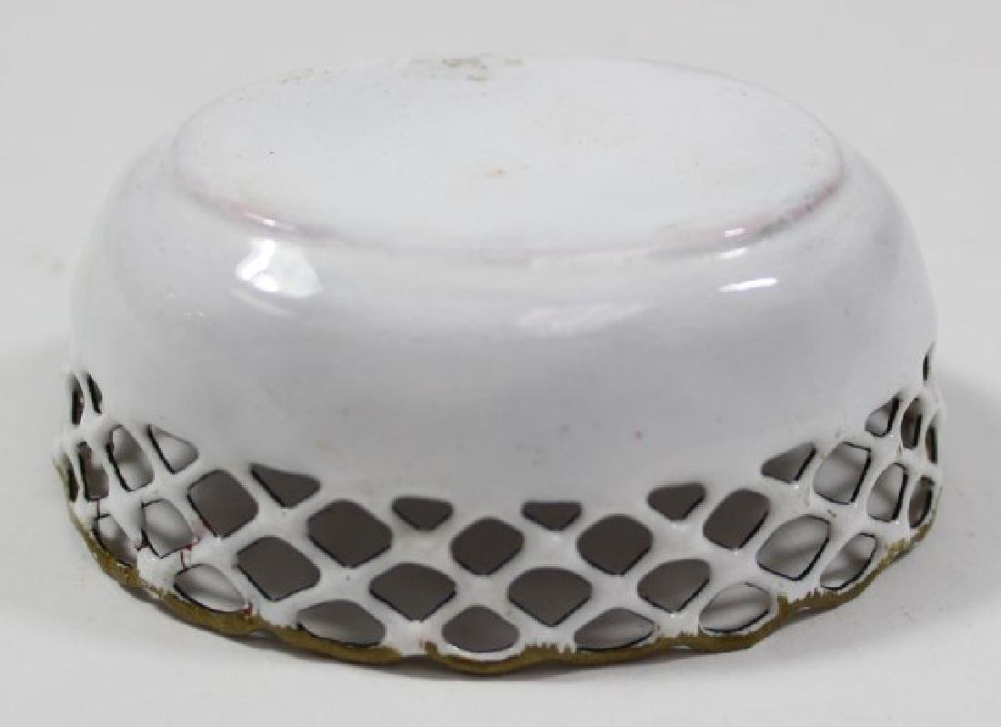 4 Enamel Open Reticulated Small Bowls/Dishes - 7