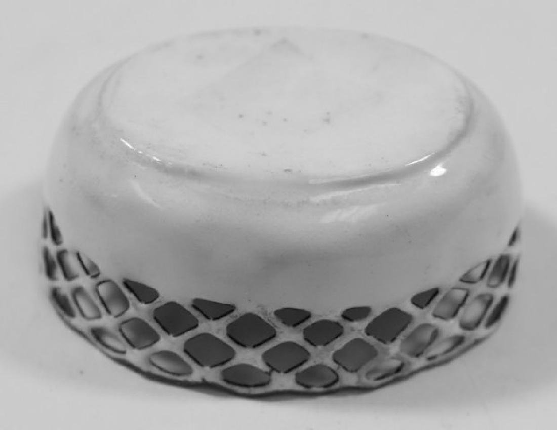 4 Enamel Open Reticulated Small Bowls/Dishes - 9