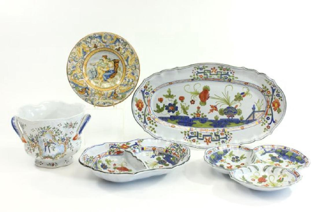 5 Pieces French & Italian Pottery