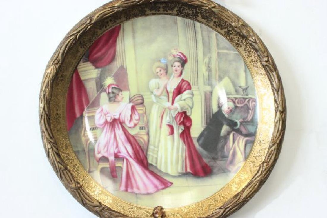 Pair Sèvres Style Plates in Bronze Frames - 3