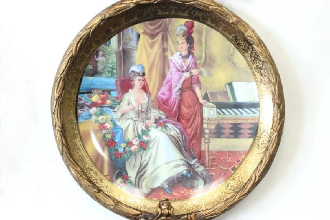 Pair Sèvres Style Plates in Bronze Frames - 5