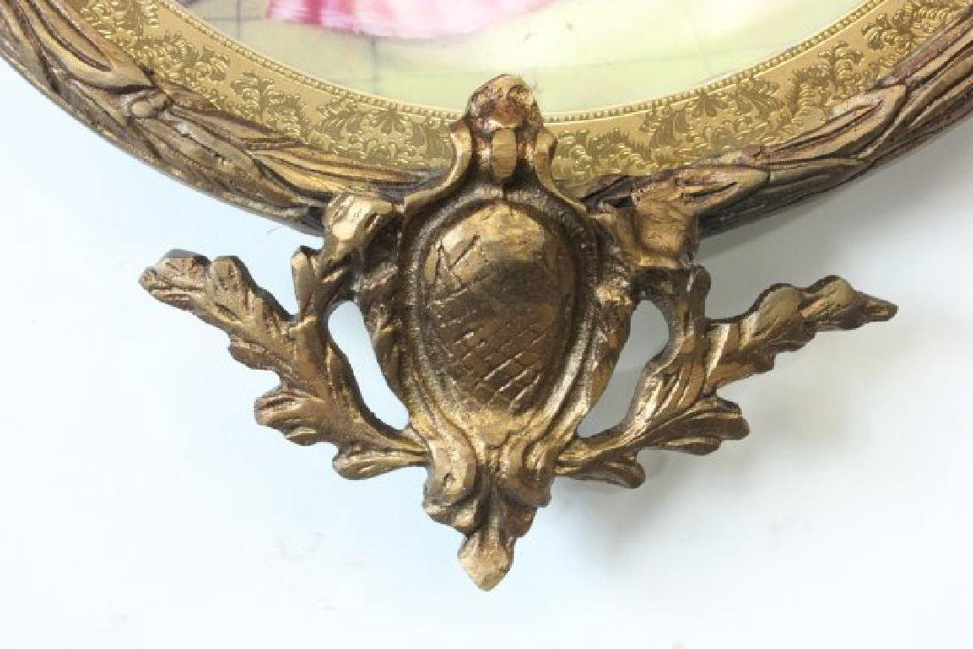 Pair Sèvres Style Plates in Bronze Frames - 7
