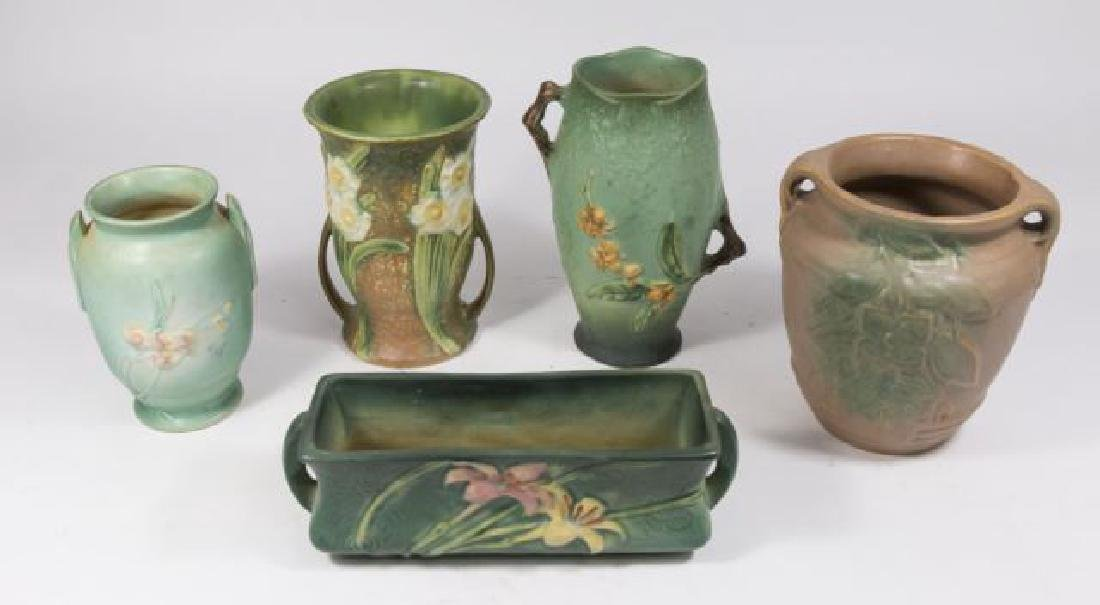 :Lot 5 Roseville Pottery Pieces