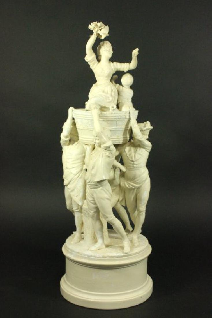 Bisque Parian Figural Centerpiece