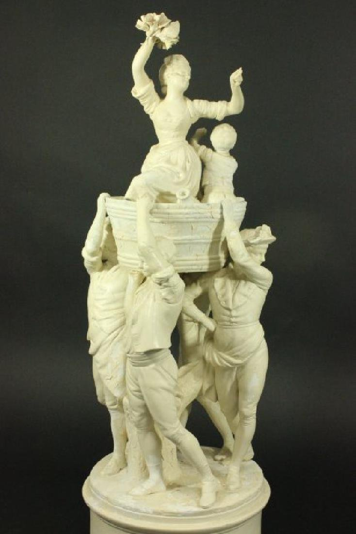 Bisque Parian Figural Centerpiece - 2