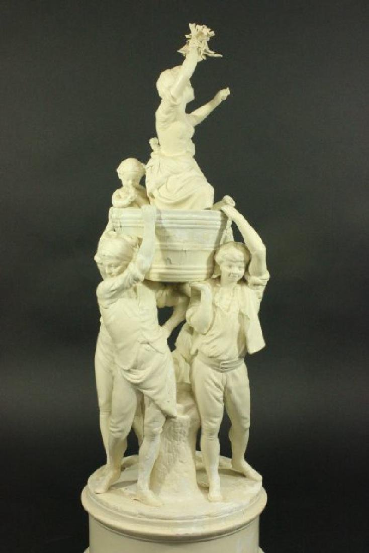 Bisque Parian Figural Centerpiece - 4