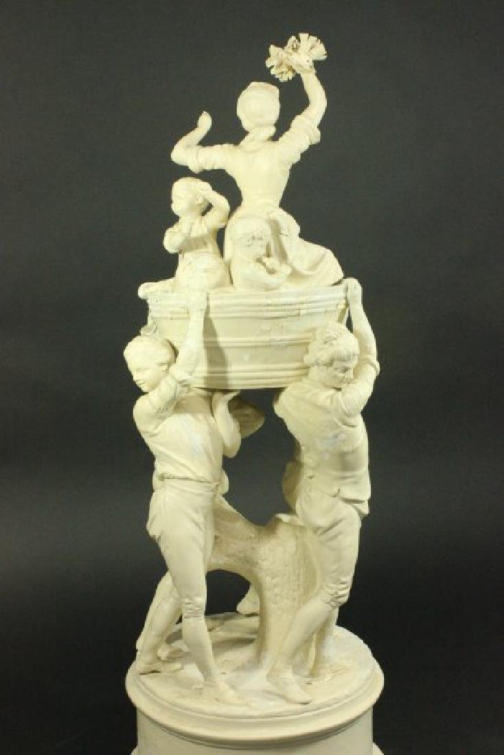 Bisque Parian Figural Centerpiece - 5