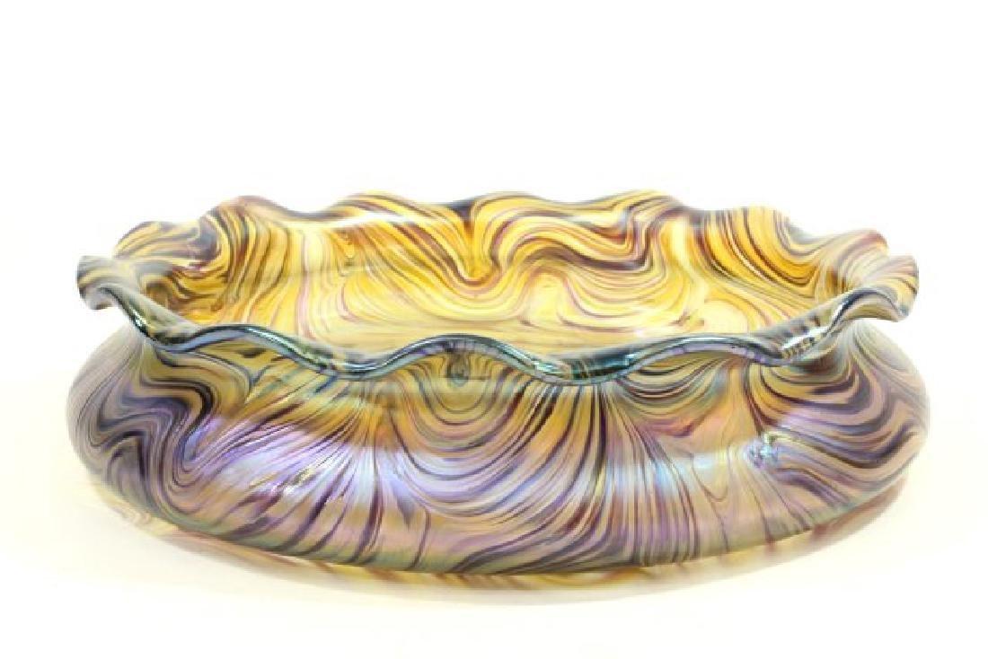 Loetz Unsigned Art Glass Bowl - 2