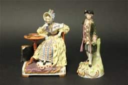 2 Continental Porcelain Figures