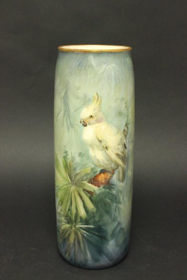 Belleek Porcelain Hand Painted Vase