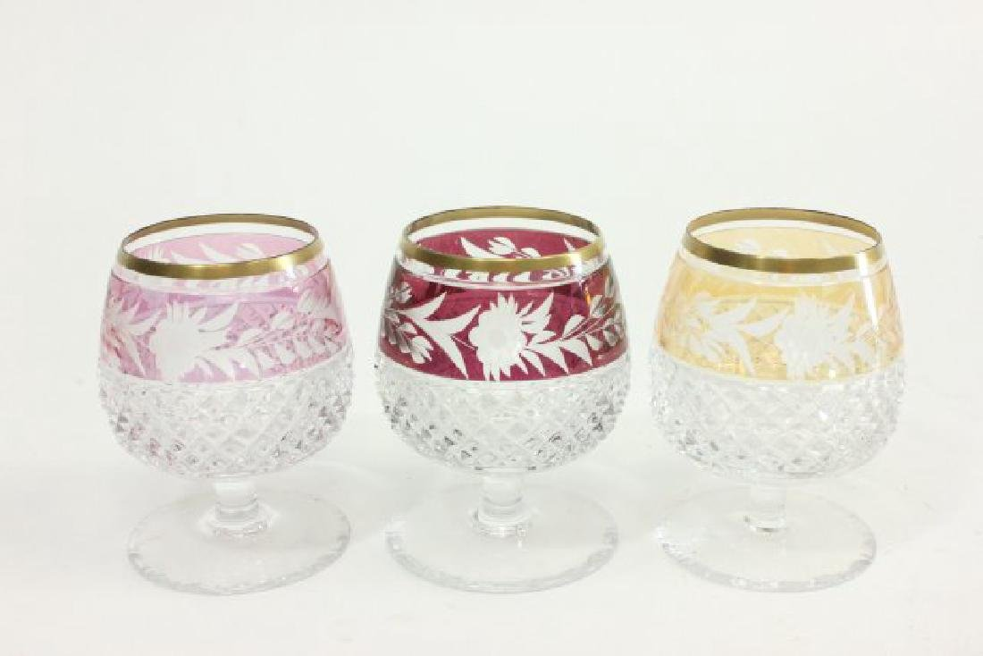 Lot of 17 Bohemian Cut to Clear Glasses - 6
