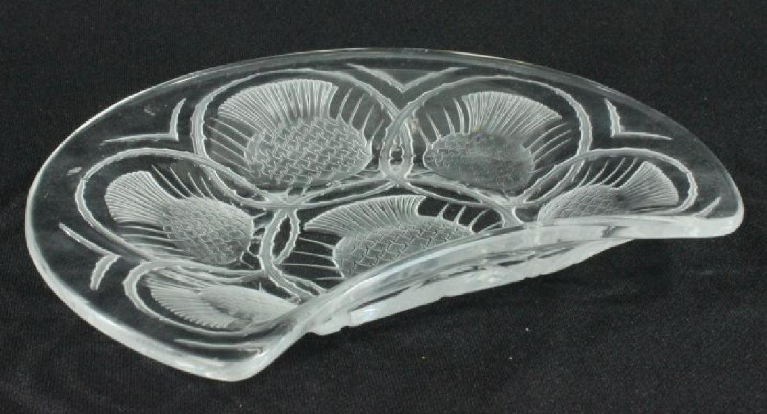 Lalique Thistle Pattern Tray - 2