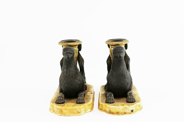 Pair Mottahedeh Griffon Candlesticks - 2
