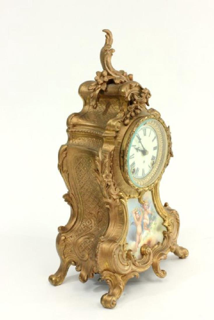 Gilt Metal Ansonia Mantel Clock - 7