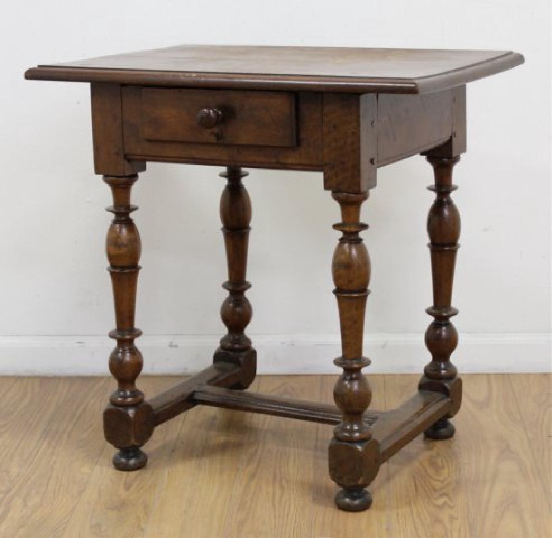Antique Walnut Work Table - 3
