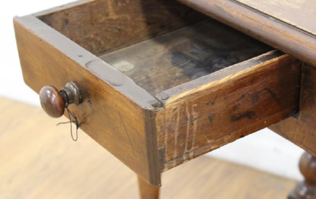 Antique Walnut Work Table - 4