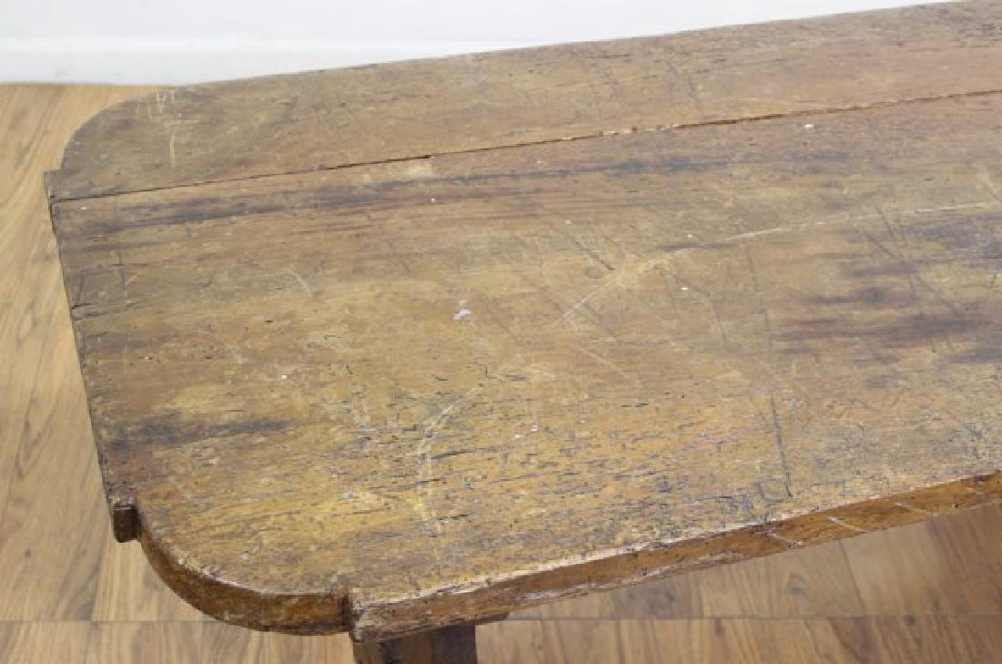 Antique Cut Down Tavern Table - 3