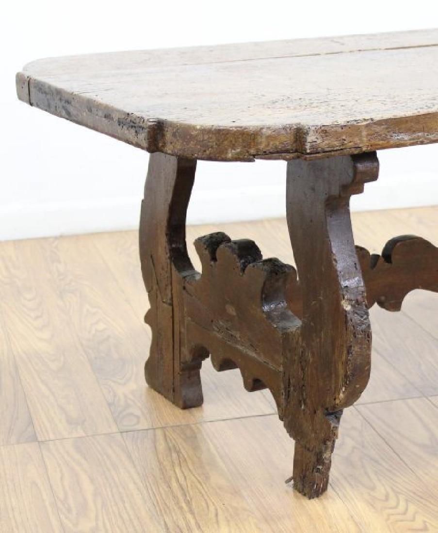 Antique Cut Down Tavern Table - 5