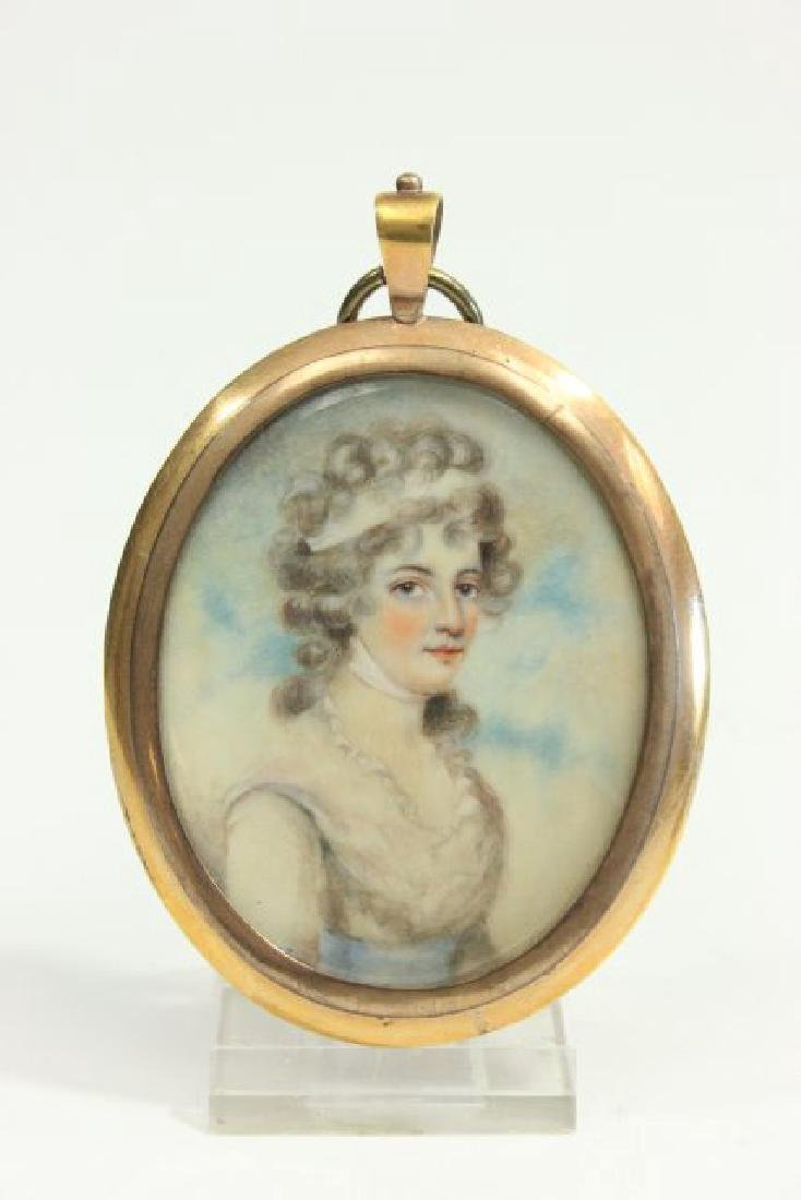 Handpainted Oval Portrait Miniature