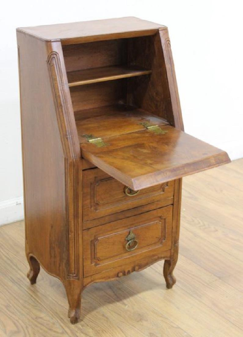 French Provincial Walnut Secretaire Abatant - 3