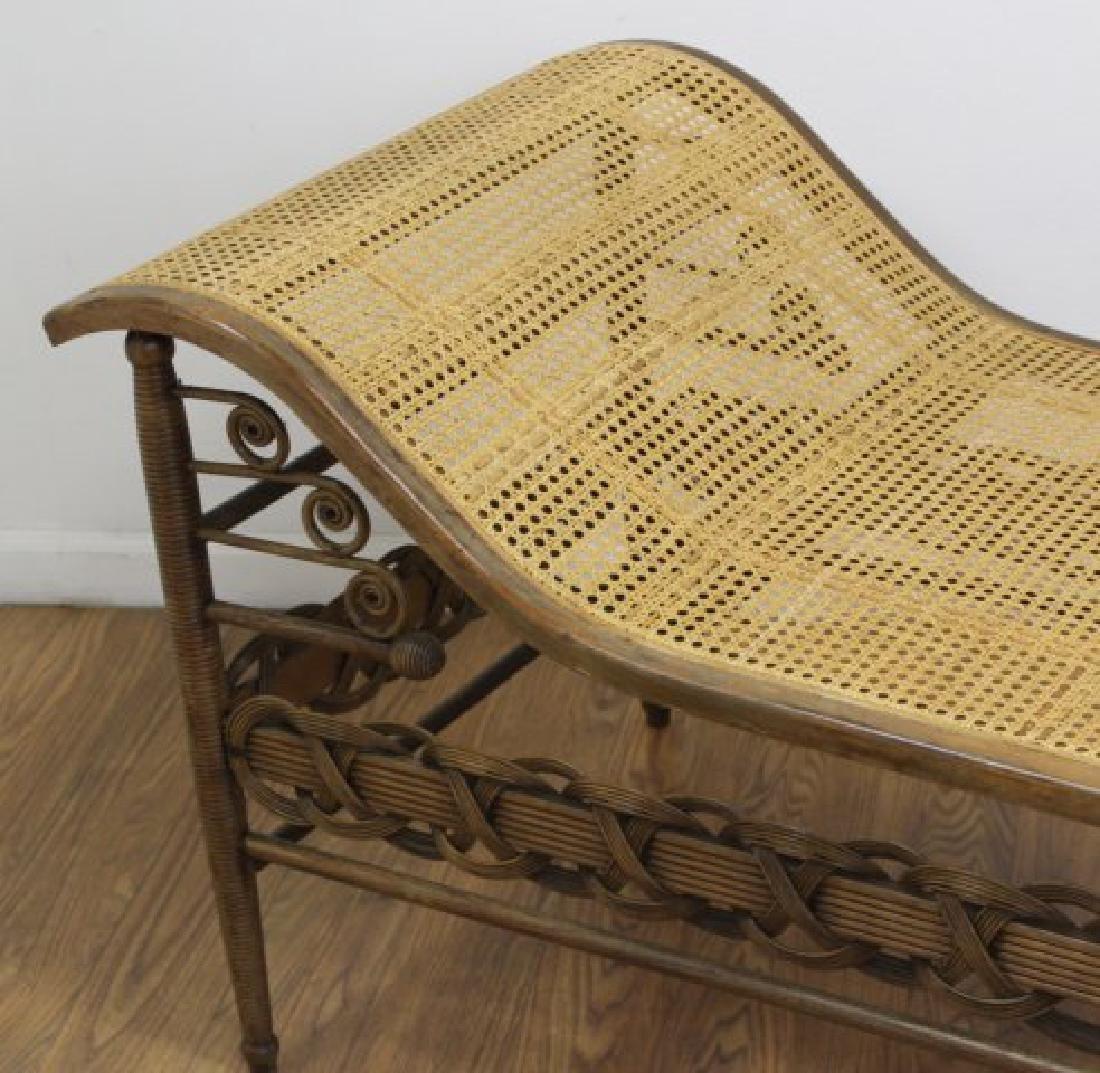 Heywood & Wakefield Wicker Chaise Longue - 2