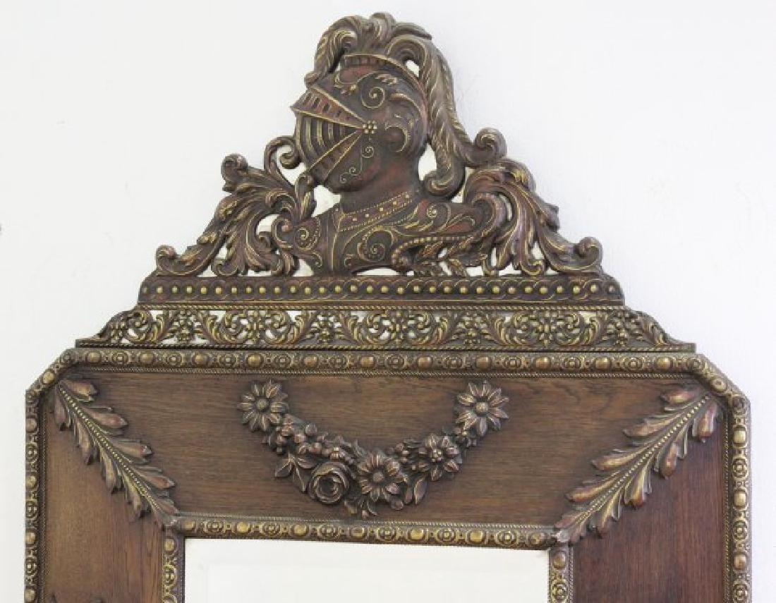 :Brass-Clad Mirror with Military Motif - 2