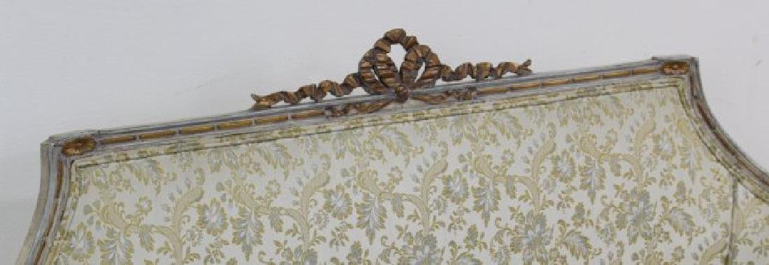 French Style Carved Walnut Loveseat - 4