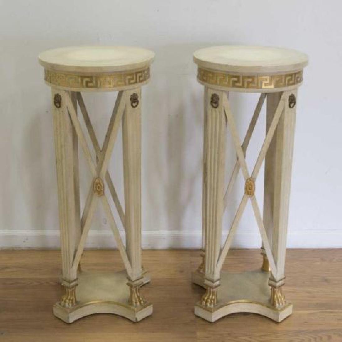 :Pair Regency Style Pedestals