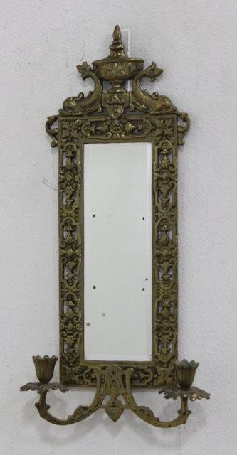 4 Renaissance Style Mirrored Brass 2-Light Sconces - 5