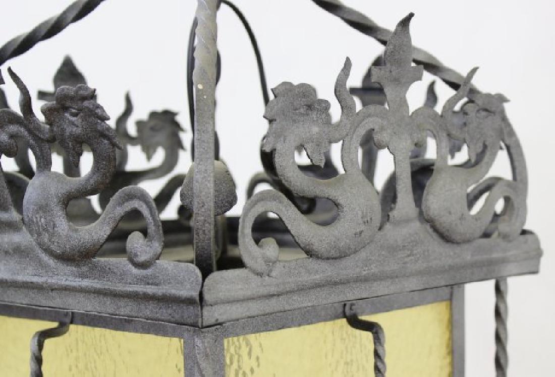 Wrought Iron Medieval Style 4-Light Hall Lantern - 3