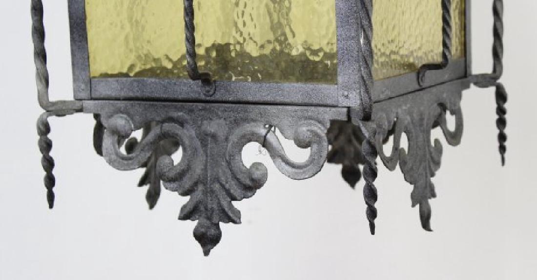 Wrought Iron Medieval Style 4-Light Hall Lantern - 4
