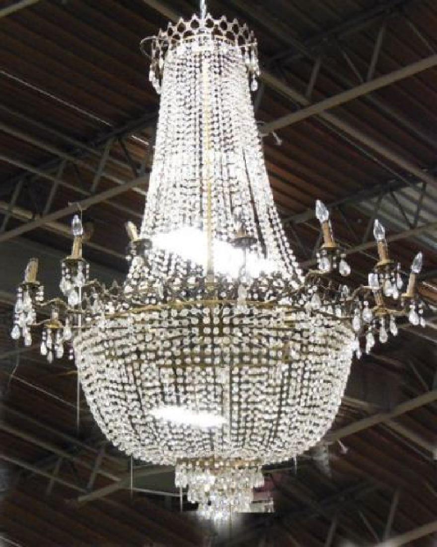 :Crystal Basket Chandelier
