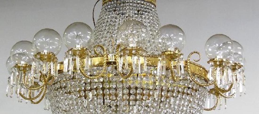 :Chandelier with Crystal Basket & Round Bowls - 2