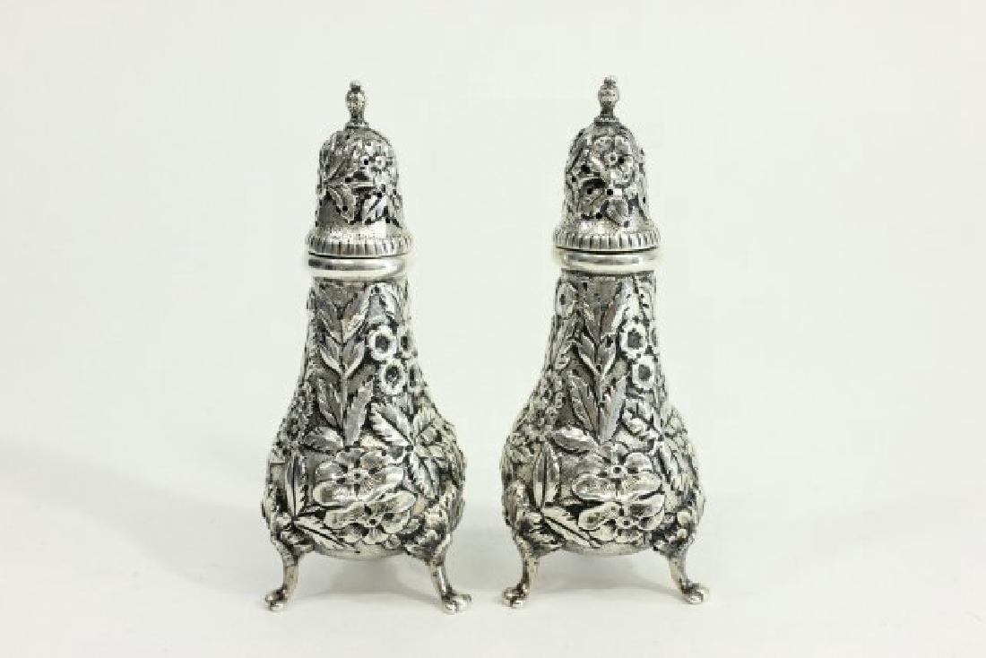 Kirk & Son Sterling Silver Salt & Pepper Shakers