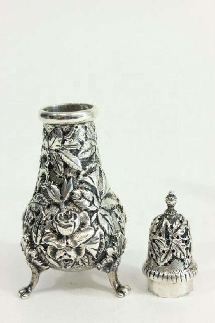 Kirk & Son Sterling Silver Salt & Pepper Shakers - 5