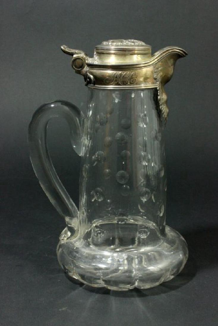 Matched Pair Tiffany Crystal Pitchers - 2
