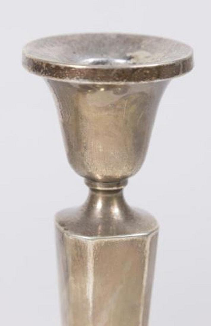 :Pair B&M Sterling Silver Weighted Candlesticks - 2
