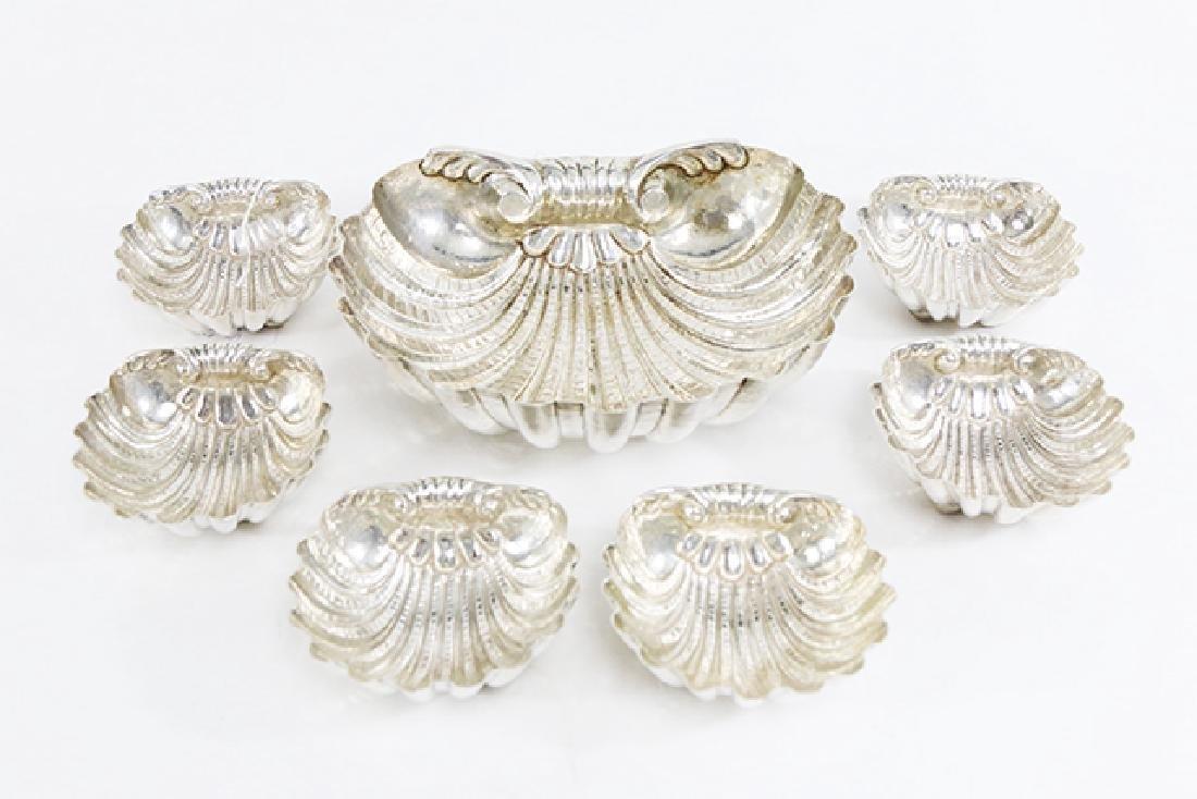 7 Piece Donatelli Italian Silver Shell Dishes