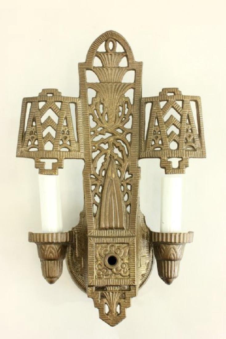 4 Art Deco 2-Light Sconces - 2