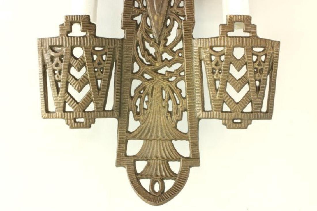 4 Art Deco 2-Light Sconces - 3